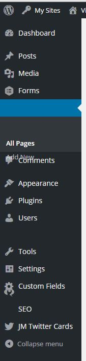 admin menu wordpress 4.3