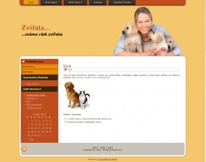Free WordPress šablona – téma zvířata