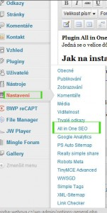 Jak na SEO optimalizaci ve WordPress? Plugin All in One SEO pack