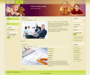 Free WordPress šablona – téma děti