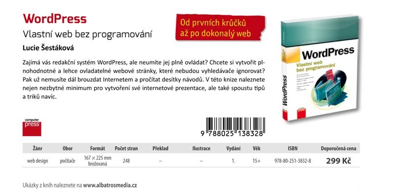 WordPress - vlastní web bez programování