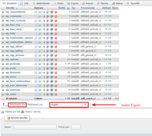Jak na export databáze a hromadně převést URL adresy v MySQL