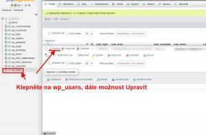 Jak na změnu hesla uživatele WordPressu v MySQL administraci